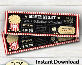 home movie invites etsy