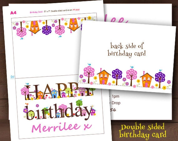 Editable Birthday Card Happy Birthday Card Cute Birthday