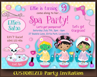 Salon invite Etsy
