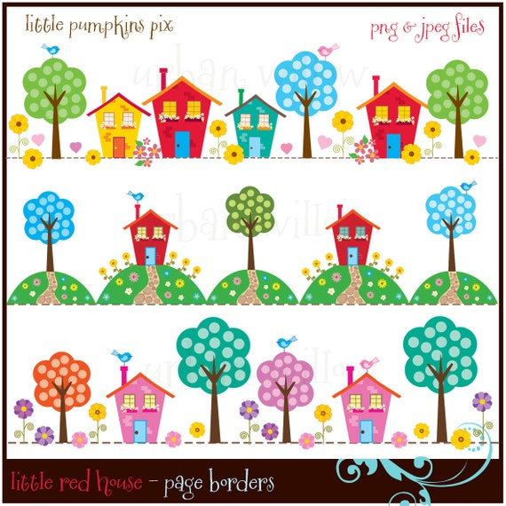 Cute House Clipart New Home Clipart Digital Scrapbook Page