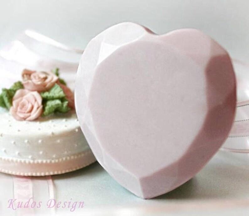 CK009 Diamond Heart Soap Mold, soap mold, silicone soap mold (Kudos Design, Kudosoap) Taiwan