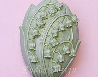 FL020 Lily of the valley Soap Mold, soap mold, silicone soap mold (Kudos Design, Kudosoap) Taiwan