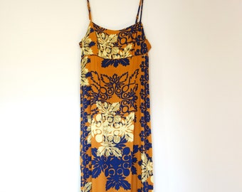 d08b350533bbc Vintage Floral Hawaiian Maxi Dress, Mamo Howell Made in Hawaii, Size Large