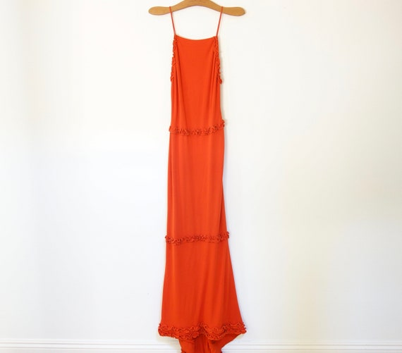 Vintage 1940s Evening Gown, Long gown With Train,