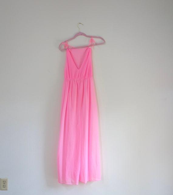 1960s Hot Pink Lounge Wear, Vintage Sheer Lingerie