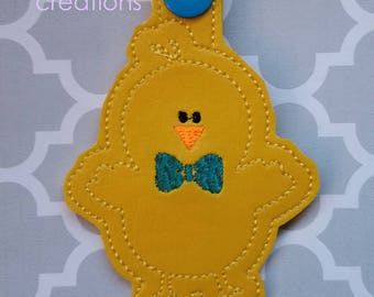 Handsome Peep Chick Embroidery Design, 4x4, 5x7, Single, Multi, Files Easter