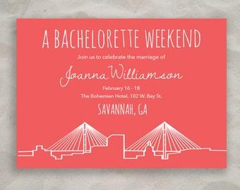Savannah Bachelorette Invitation