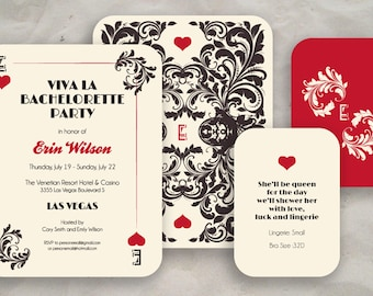 Las Vegas Bachelorette Party Invite (Round Corners)