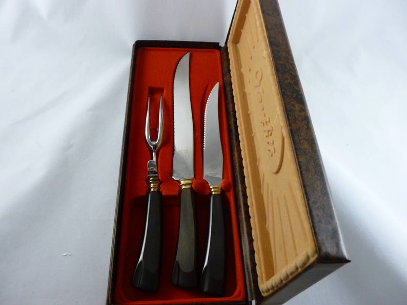 Glo Hill Carving Set with Bakelite Handles