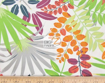 ABSTRACT MULTI-COLOR FLOWERS BY DEARSTELLA DESIGN COTTON FABRIC FH-2858 BY YARD