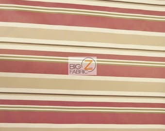 OXFORD STRIPE OUTDOOR CANVAS WATERPROOF FABRIC BY THE YARD ANTI-UV Yellow