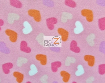 "Pink Hearts 269 CANCER AWARENESS FLEECE FABRIC 60/"" WIDTH SOLD BTY"