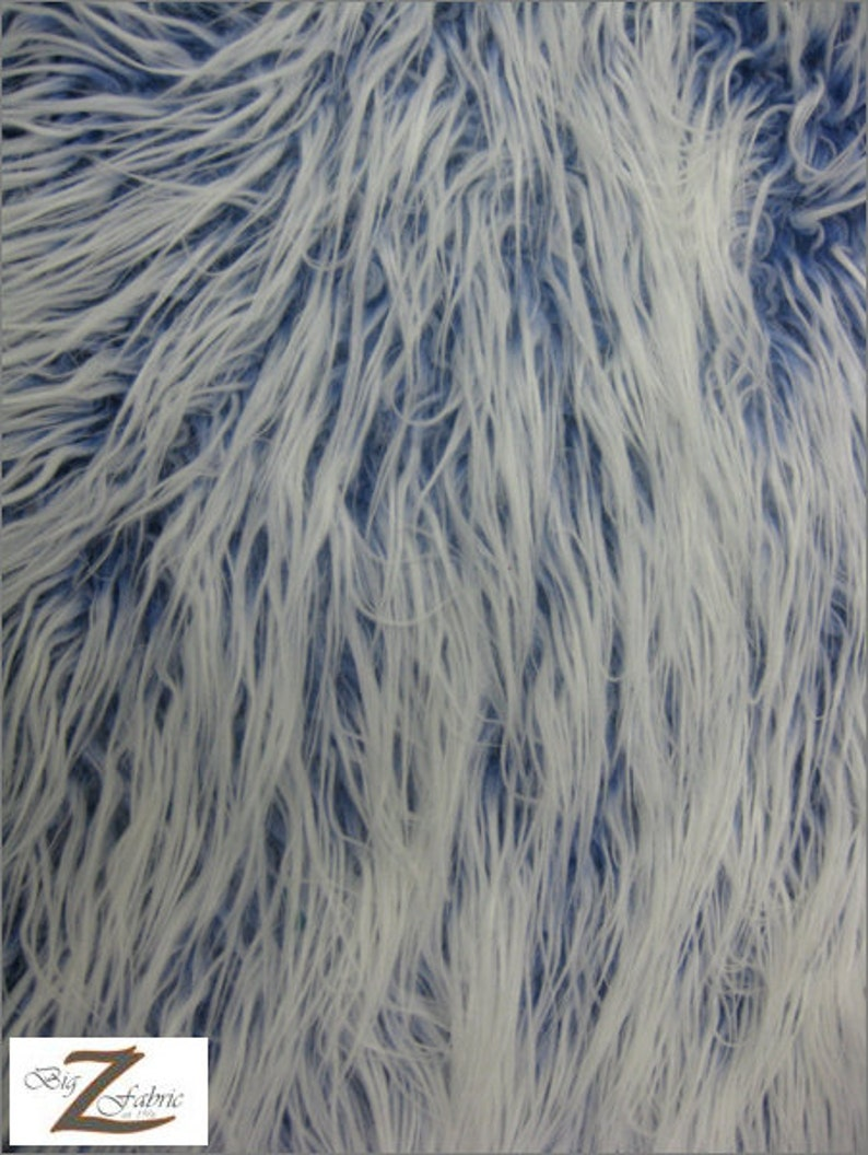 LONG PILE FROSTED SHAGGY FAUX FUR FABRIC-ROYAL -24.99//YRD SOLD BTY