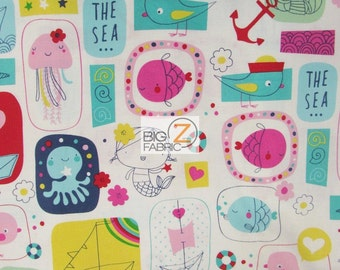 100% Cotton Fabric By Windham Fabrics - Ahoy Matey The Sea - Sold By The Yard (FH-2399)