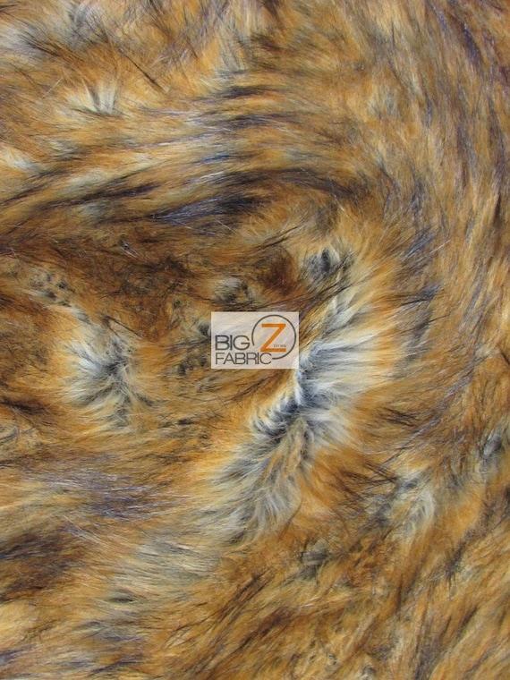 SOLID SHAGGY FAUX FUR LONG PILE FABRIC BY YARD COSTUMES EcoShag™ Orange