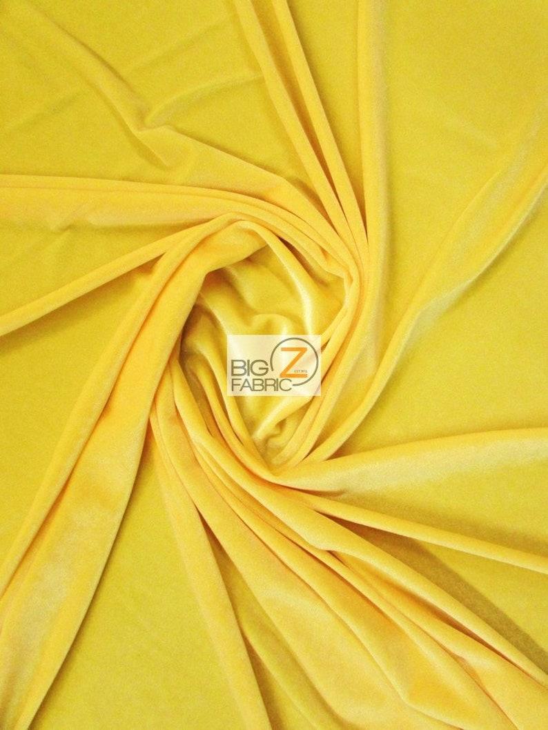 Stretch Velvet Velour Spandex 360 Grams Costume Fabric  image 0