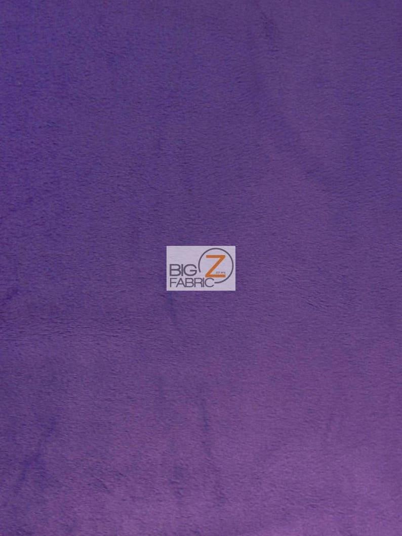 Minky Solid Baby Soft Fabric  DARK PURPLE  58/60 image 1