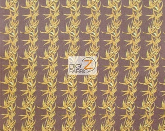"""100% Cotton Fabric By Tina Givens For Westminster Fibers - Bamboo Coffee Brown - 45"""" Width Sold By The Yard (FH-1660)"""