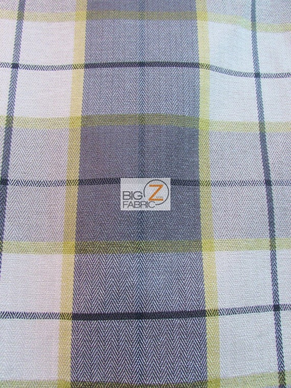 Luxury Tartan Plaid Upholstery Fabric Citrus Sold By Yard Etsy