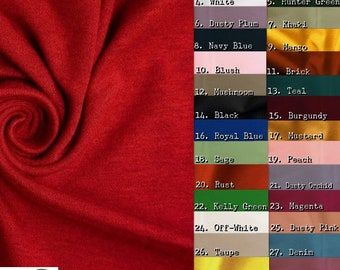 Ponte De Roma Jersey Knit Spandex Fabric - 32 COLORS - By The Yard DIY Fashion Clothing Accessories 2 Way Stretch Apparel