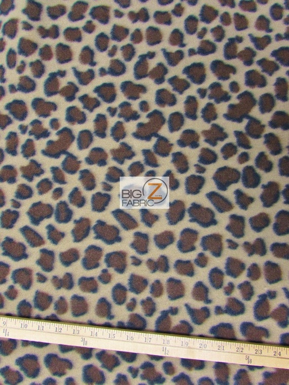 "Pink 60/"" WIDTH SOLD BY THE YARD 28 LEOPARD PRINT POLAR FLEECE FABRIC"