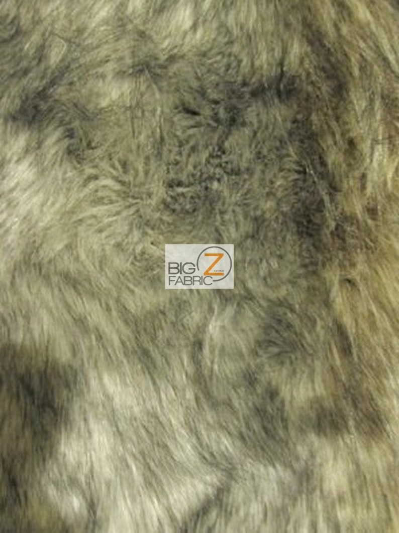 By The Yard Costume Clothing Accessories Scarf Coats Rugs Faux Fake Fur Animal Short Pile Coat Costume Fabric ARCTIC WOLF