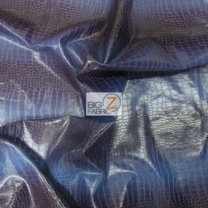 upholstery vinyl  leather Snake Viper Fake Royal Navy 2 Tone Embossed pattern fabric  yard 55 Wide ROLLED