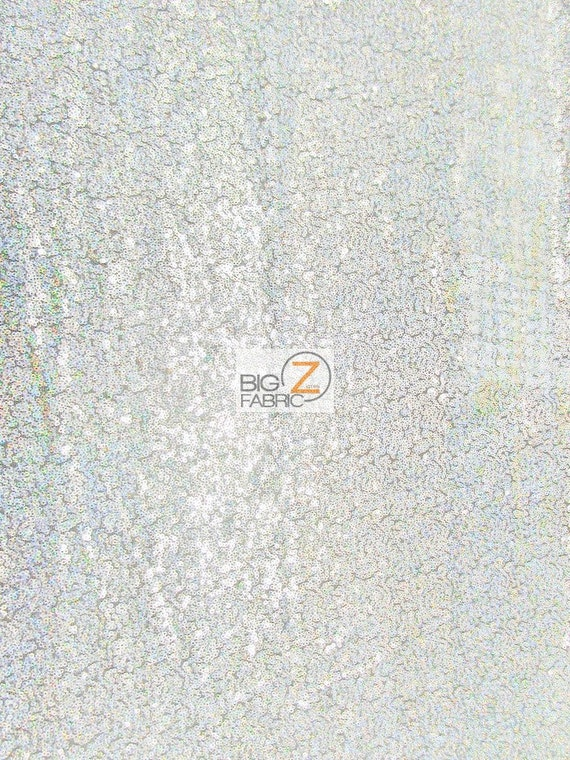Shiny Silver MINI DISC SEQUIN NYLON MESH FABRIC BTY BACKDROP FREE SHIPPING