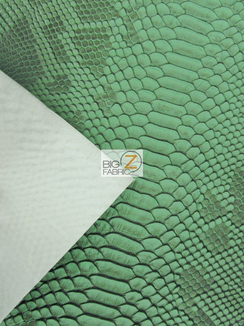 Sold By The Yard 52 Width Viper Sopythana Embossed Snake Skin Vinyl Leather Fabric SNOW WHITE