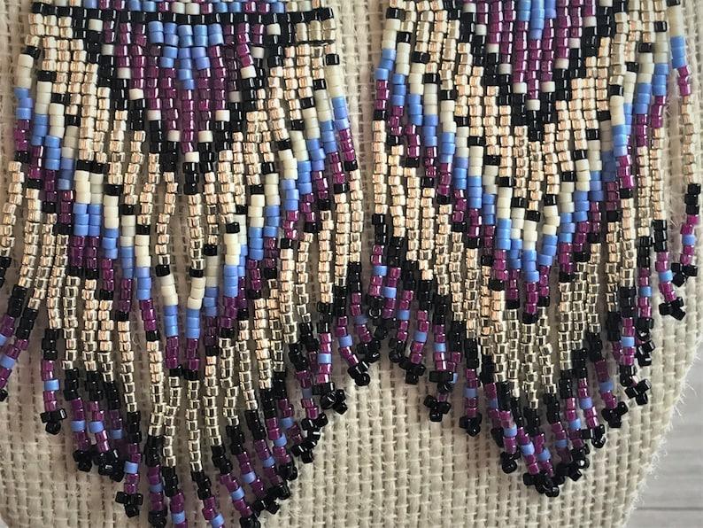 Boho Chic Miyuki Beads Beautiful Native American Southwestern Handmade unique and eye catching Huichol .925 silver ear hook Statement