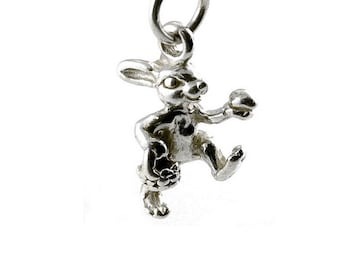 Sterling Silver Easter Bunny Charm For Bracelets