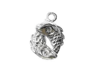 Sterling Silver Zodiac Pisces Charm For Bracelets