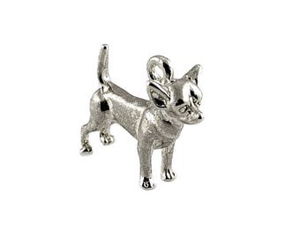 Sterling Silver Chihuahua Dog Charm For Bracelets