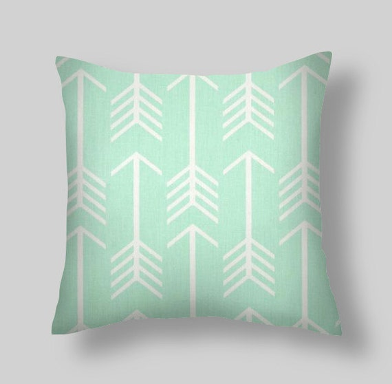 Mint Green Pillow Cover Green Decorative Pillows Green Etsy Amazing Teal Green Decorative Pillows