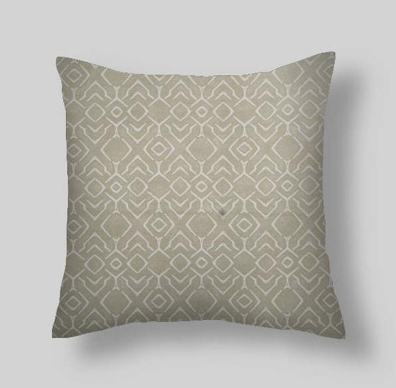 Gray Throw Pillows SCOTT LIVING ABYDOS Decorative Throw Etsy New Etsy Decorative Throw Pillows