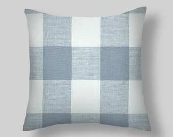 Pillow, Blue Buffalo Check Pillow ,  Pillow Cover.
