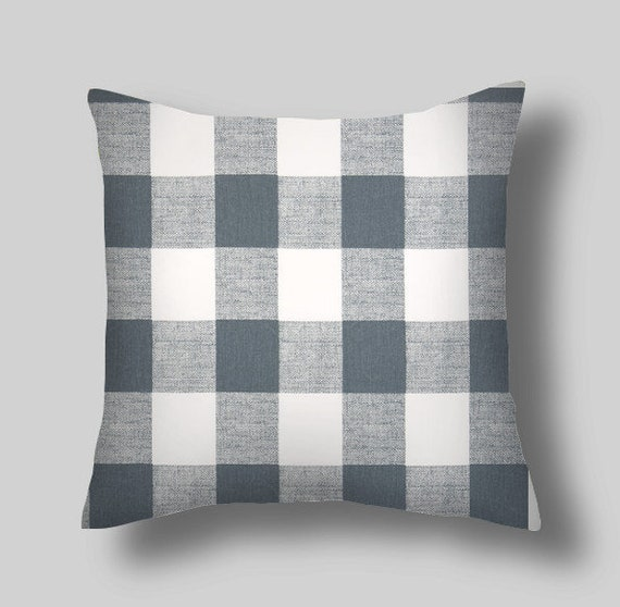 Gray Pillow Blue Gray 40 X 40 Throw Pillow Pillow Cover Etsy Inspiration Throw Pillow Covers Etsy