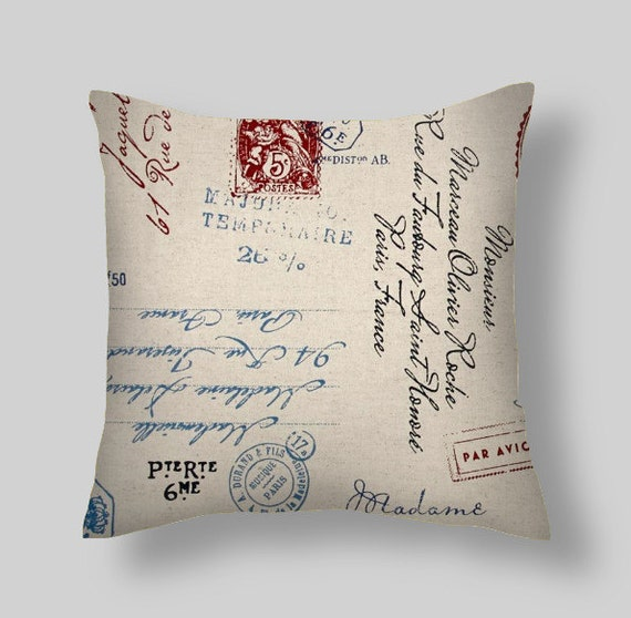 Red Script Pillow Pillow Cover Decorative Pillows Navy Etsy Cool Pictures Of Decorative Pillows