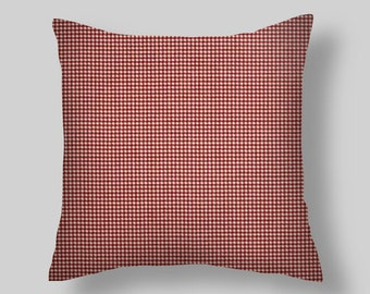 Red Throw Pillows, Rad Pillow Covers, Red Pillows, Decorative Pillows Home Decor, Red Check Pillow, Red Throw Pillow All sizes 16 18 x 8  20