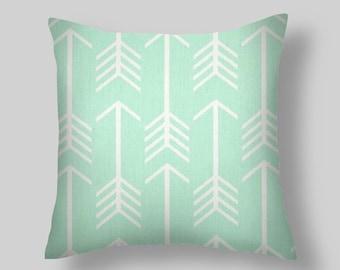 Mint Green Pillow Cover, Green Decorative Pillows, Green Pillows, Mint Green Throw Pillows, All sizes 16 18 x 18 20 Home Decor Pillows