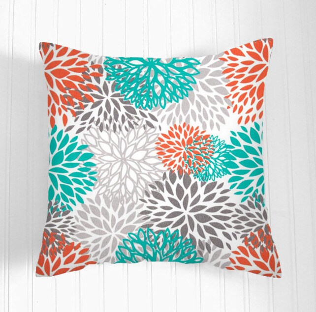 Decorative THROW PILLOWS 40 X 40 Orange Throw Pillow Covers Etsy Delectable Decorative Outdoor Pillows On Sale