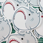 Derpy Great White Shark Vinyl Sticker