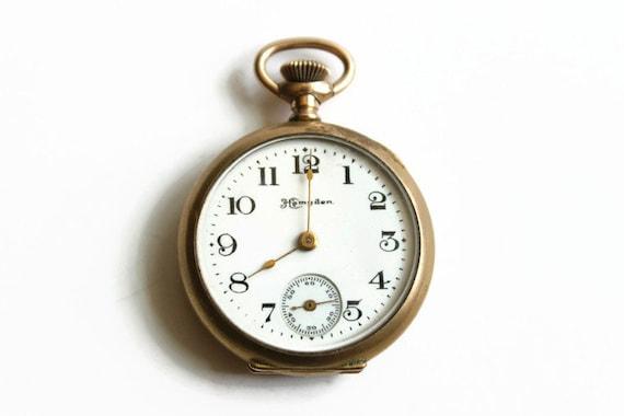 Antique Pocket Watch, Hampden Dueber, Engraved, La