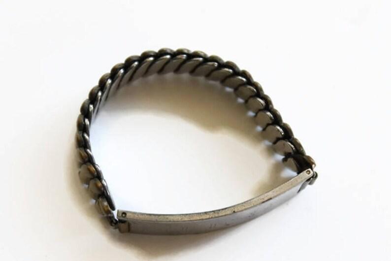 Vintage Expansion Bracelet Circa 1960/'s Silver Tone Bracelet Engraved JFS