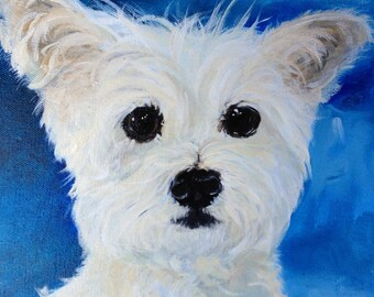 """Custom listing for a 12""""X12""""   Hand Painted Pet Portrait on etsy"""
