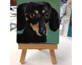 "3""x3"" pet portrait with easel"