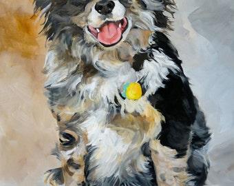 "16""x20"" custom pet portrait in oil"