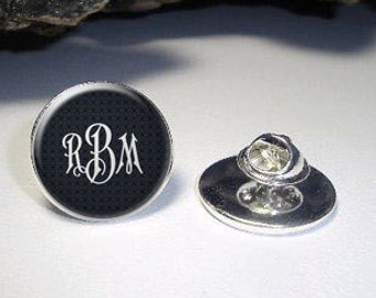 5109bcdbef6 Personalized Lapel Pin, Monogram Lapel Pin, Personalized Tie Tack, Wedding Lapel  Pin, Wedding Party Gift,