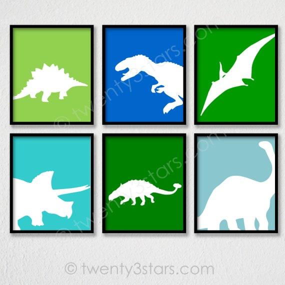 Dinosaur Boys bedroom Art Poster Print Dinosaur Awesome Roar boys poster Nursery