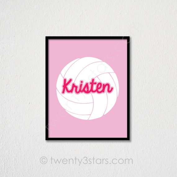 Personalized Volleyball Art Volleyball Spiker Art Volleyball Hitter Art Volleyball Team Gift Volleyball Coach Gift Girls Volleyball Art